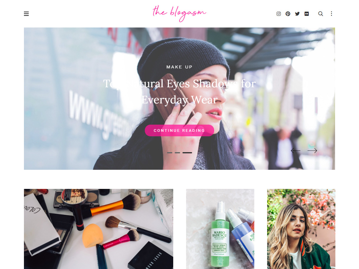 Blogasm Pro - Minimal Blog WordPress Theme