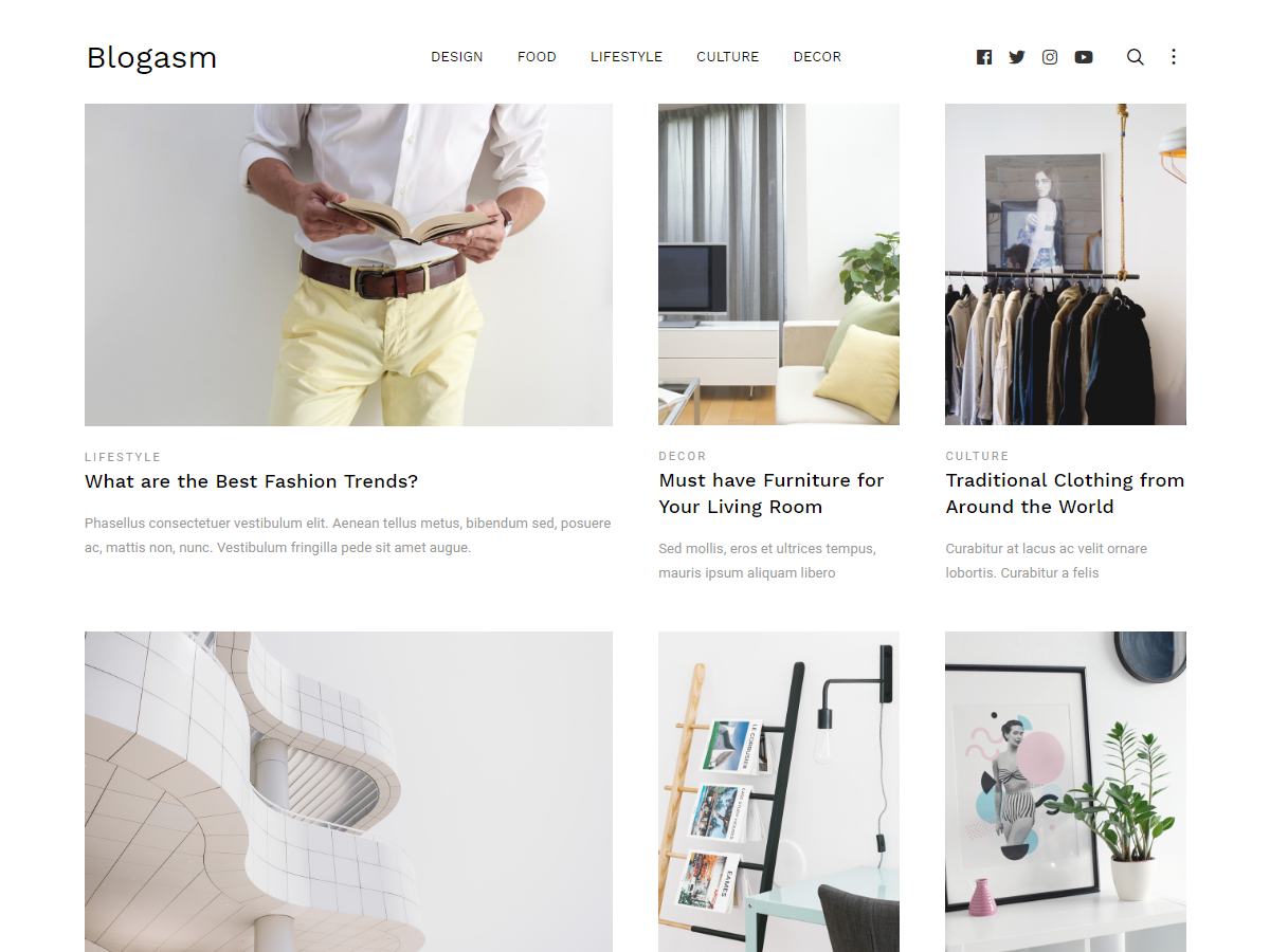 Blogasm - Free Minimal Blog WordPress Theme