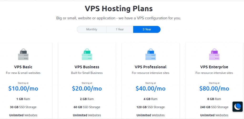 Dreamhost VPS plans