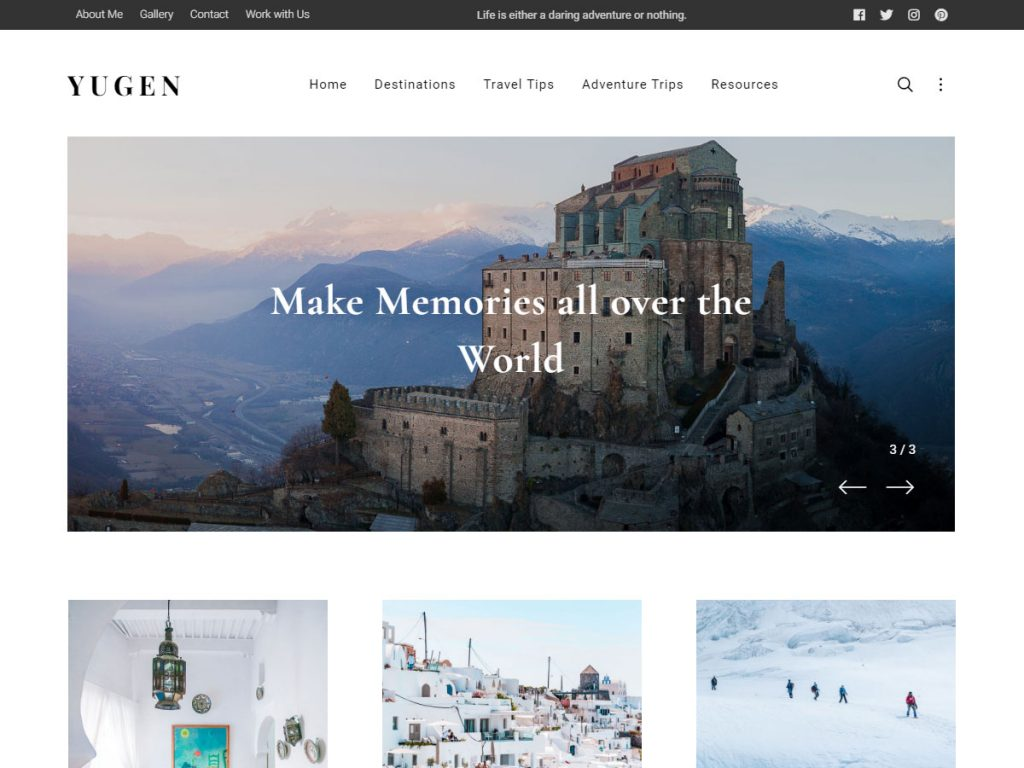 Yugen Pro - One Of The Best WordPress Themes For Artists