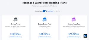 managed WordPress hosting plans on Dreamhost