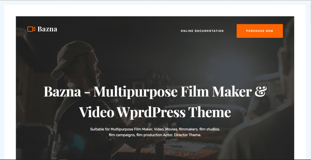 Bazna - Videographer WordPress themes