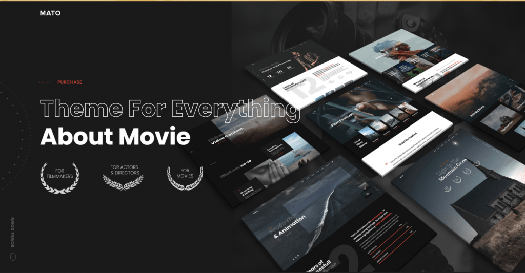 Mato - WordPress themes for Videographers