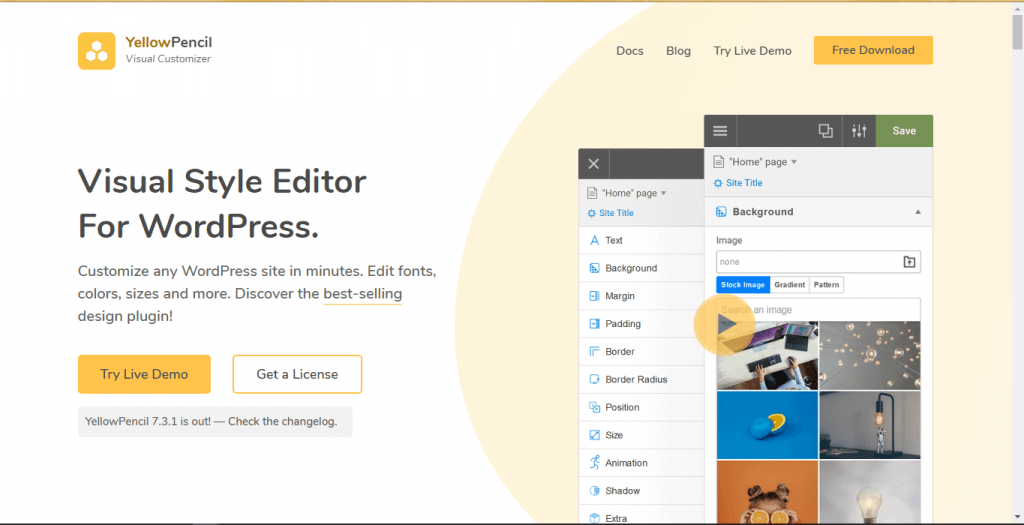 YellowPencil- Edit WordPress themes without coding